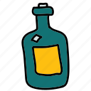 bottle, drinks, old, wine icon