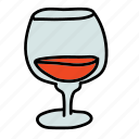classic, cognac, drinks, glass, wine icon