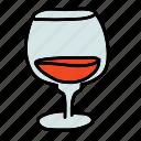 classic, cognac, drinks, glass, wine