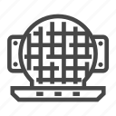 appliance, iron, kitchen, waffle icon