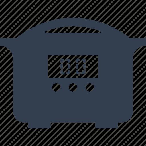 appliances, electric, kitchen, multicooker, smart, timer, utencil icon