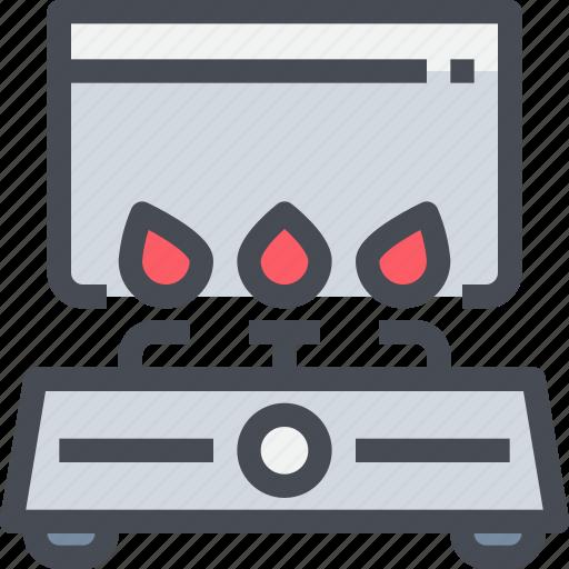 appliance, equipment, gas, kitchen, stove icon