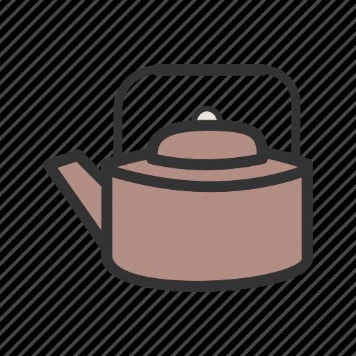 antique, kettle, kitchen, pot, style, tea, traditional icon