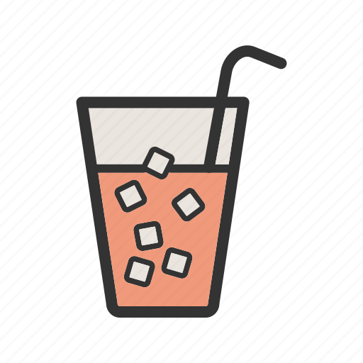 cold, cubes, drink, ice, soda, summer, water icon