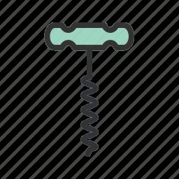 bottle, equipment, kitchen, metal, metallic, object, opener icon