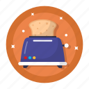 kitchen, tools, toaster, bread, breakfast, electric