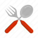 cutlery, fork, knife, meal, metal, spoon, utensil icon