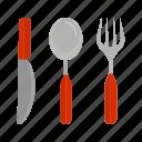 cutlery, fork, knife, set, silver, silverware, spoon