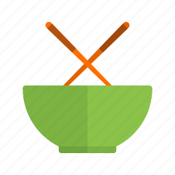 chicken, chinese, food, plate, rice, traditional, vegetable icon