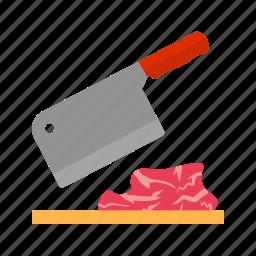 board, butcher, cuts, cutting, fresh, knife, meat icon