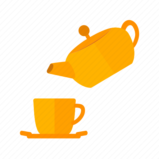 cup, drink, healthy, hot, pot, pouring, tea icon