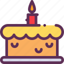 birthday, cake, candle, pie icon