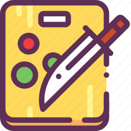 cook, cut, knife icon