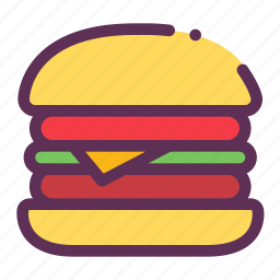 bread, fastfood, hamburger icon