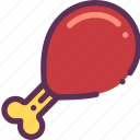 chicken, leg, meat icon