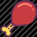 chicken, leg, meat icon