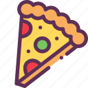 bread, cheese, fastfood, pizza, tomato icon