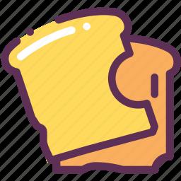 bread, breakfast, food, toasts icon