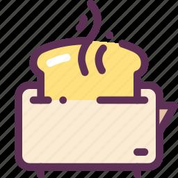 bread, breakfast, food, fry, toasts icon