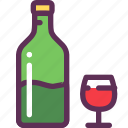 dinner, glass, romantic, vine icon