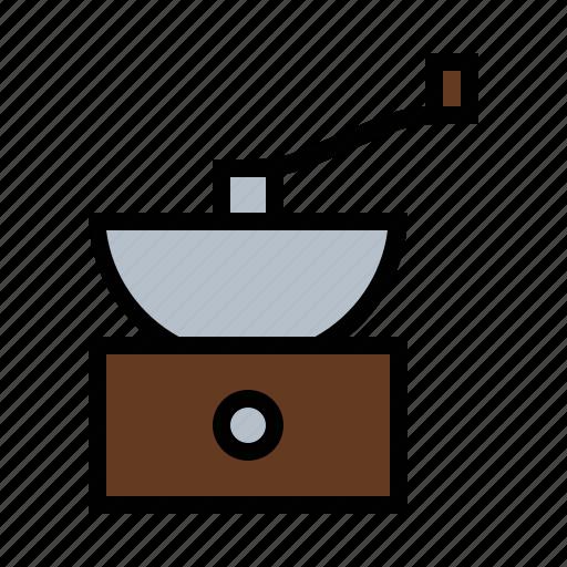 coffee, food, grinder, kitchen icon