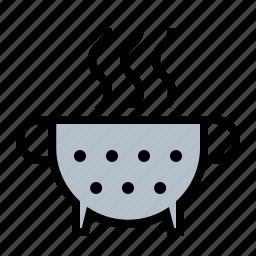 collander, food, kitchen, strainer icon
