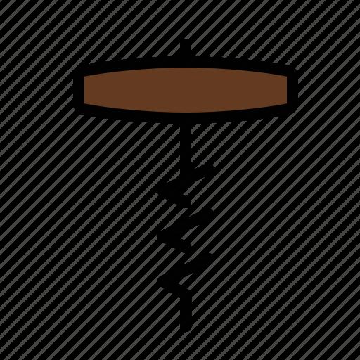 corkscrew, food, kitchen icon