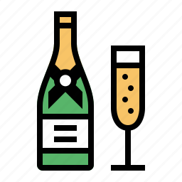 bottle, champagne, drink, food, kitchen icon