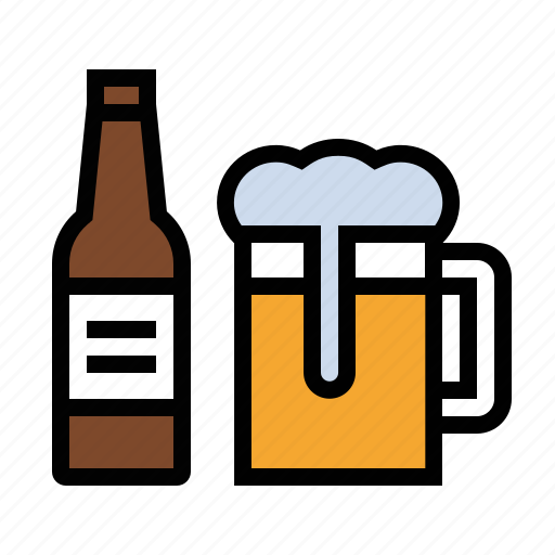 bottle, drink, food, geer, kitchen, mug icon