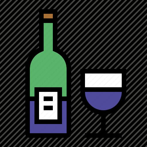 bottle, drink, food, kitchen, wine icon