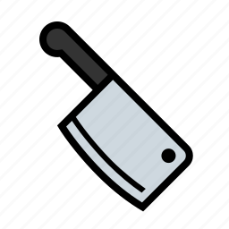 cleaver, food, kitchen, meat icon