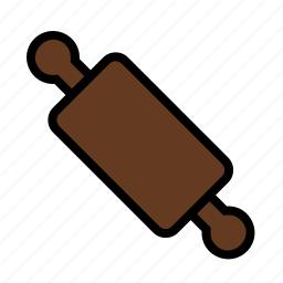 food, kitchen, pin, rolling icon