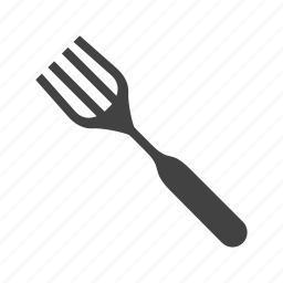 food, fork, object, shiny, silver, steel, utensil icon