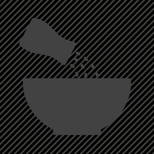 Adding, cooking, ingredient, salt, sodium, spice, white icon - Download on Iconfinder