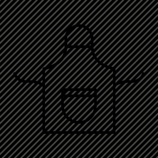 apron, bib, chef, cooking icon