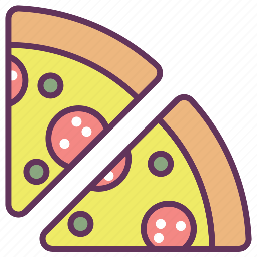 cheese, fast, food, italian, pizza, restaurant, slice icon