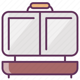 breakfast, cooking, electronics, household, kitchen, machinery, toaster icon