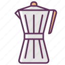 beverage, breakfast, coffee, coffeemaker, drink, hot, morning icon