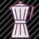 beverage, breakfast, coffee, coffeemaker, drink, hot, morning icon