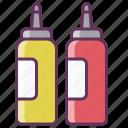 fastfood, food, ketchup, ketchup bottle, mustard, sauce icon