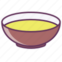 bowl, dinner, dish, food, liquid, plate, soup icon