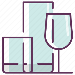 crystal, glass, kitchen, restaurant, serving, tableware icon