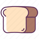 bread, breakfast, food, kitchen, lunch, sandwich, toast icon