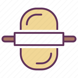cooking, dessert, dough, food, kitchen, pastry, rolling pin icon