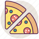 cheese, fast, food, italian, pizza, restaurant, slice icon
