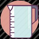 bottle, container, cooking, jar, kitchen, measure, restaurant icon