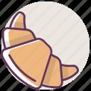 bakery, breakfast, bun, croissant, dessert, food, sweet icon