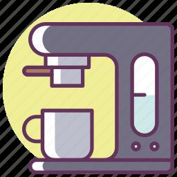 coffee, coffee maker, electronics, equipment, espresso, fast, kitchen icon