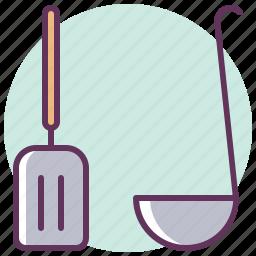 cook, cooking, kitchen, restaurant, scoop, shovel, tool icon