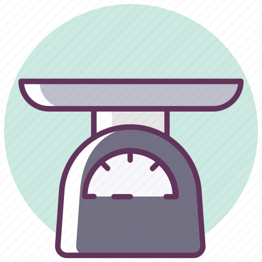 cooking, electronics, household, kitchen, machinery, scales, weigh icon